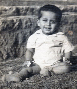 Author Richard Crasta as a baby in Banagalore