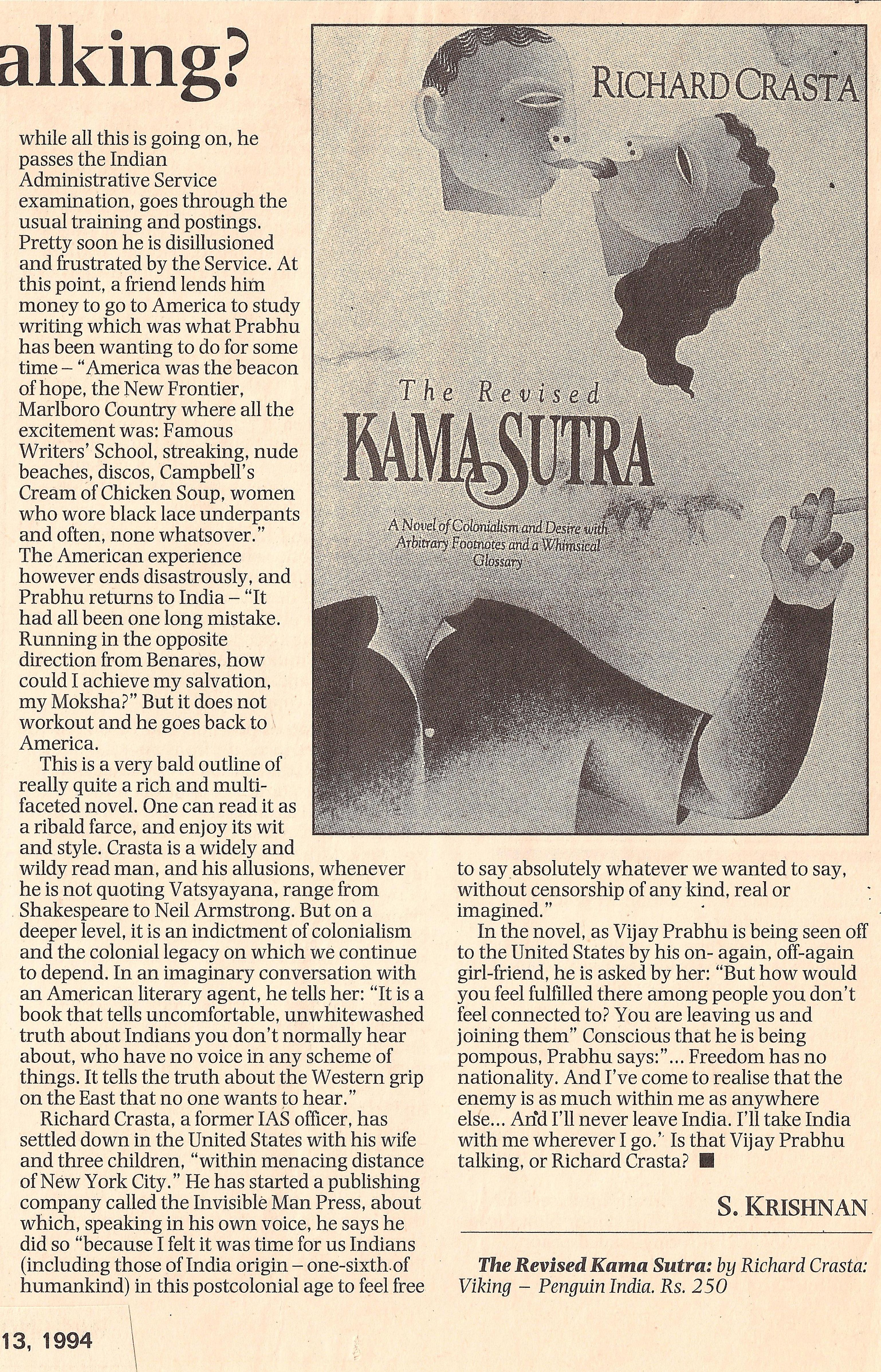 Part 2 of The Hindu Review of The Revised Kama Sutra